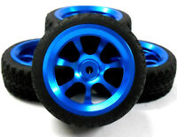 1/10 RC Remote Control Car On Road Alloy Wheel and Tread Tyre Tire Blue 7 Spoke