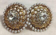 Jhumka Indian Earrings Kundan Jewelry Studs Bollywood Polki Tops Jhumki USA