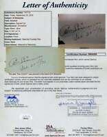 Al Simmons JSA Coa Autograph Hand Signed 1931 Album Page
