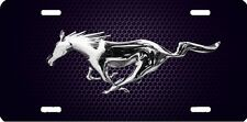 mustang horse grey  new design Airbrushed car tag license plate 45