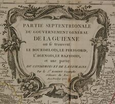"Orig. grenzkol. Kupferstichkarte ""Partie septentrionale du Gouvernement"" 1752 sf"