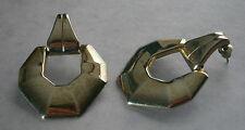 NC625) Vintage Grande Tono Argento in Metallo geometrica Loop Cerchio Orecchini Piercing