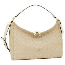 NWT COACH OUTLINE SIGNATURE EAST WEST CELESTE CONVERTIBLE HOBO BAG F58284 $325