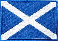 Scotland Flag Patch Scottish Embroidered Iron Sew On souvenir tourist travel
