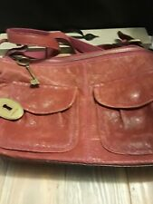FOSSIL Red Leather Purse Long Live Vintage Since 1954 Classic Retro Hippie Chic