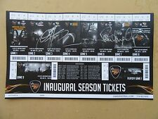 LA KISS Inaugural Season Ticket Sheet Autographed By Paul and Gene