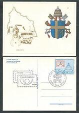 1979 VATICANO FDC CARTOLINA POSTALE STEMMA GIOVANNI PAOLO II