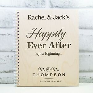 Personalised Wedding Planner Wooden Wedding Book Gift Engagement Gift Ever After