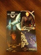 1995 Fleer Babylon 5 Ultra 4-up Panel Promo Card