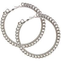 "3"" Chain Edge Hoops. Edgy Earrings!"
