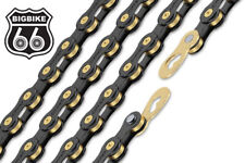 ConneX 11-Speed 11SB Black & Gold Road / MTB Bike Chain fits SRAM Shimano Campy
