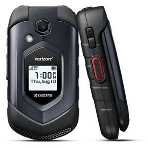 Kyocera DuraXV LTE E4610 4G LTE Flip Black Rugged Camera Cell Phone - Verizon