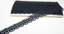 Spitze Borte Bordüre schwarz für Puppe Puppenkleid synthetisches Material 9,6m