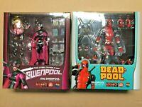ORIGINAL MAFEX MEDICOM TOYS Action Figure Marvel COMICS Evil Gwenpool + Deadpool