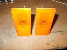1970 1971 MERCURY CYCLONE MONTEGO MX FRONT SIDEMARKER LIGHT LAMP LENS SET PAIR