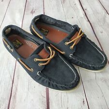 FIDELITY for SPERRY Top-Sider Men's Wool Black Boat Shoes Size 10 M