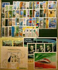 ITALIA usati 2010 Annata Completa - 56Val. + 4 Foglietti + 1 Striscia CAT.53,60