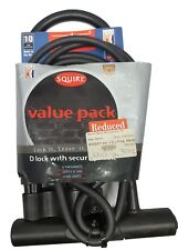 Squire Patriot 260 Bicycle Lock Value Pack - Old Stock, Cosmetic Damage