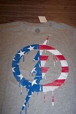 VINTAGE STYLE Marvel Comics CAPTAIN AMERICA SHIELD T-Shirt SMALL NEW Avengers