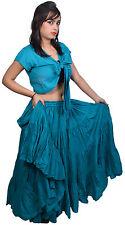 Teal 25 yard cotton renaissance skirt