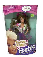 Vintage 1991 TEEN TALK BARBIE Doll Burnette  #5745 MATTEL Box has wear UNTESTED