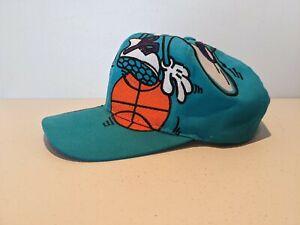 Charlotte Hornets The Game Big Logo NBA Vintage 1990s Snapback Hat Cap RARE