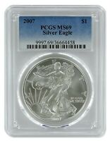 2007 1oz American Silver Eagle PCGS MS69 - Blue Label