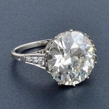 Engagement Wedding Ring 925 Sterling Silver Round Near White 11.5 mm Moissanite