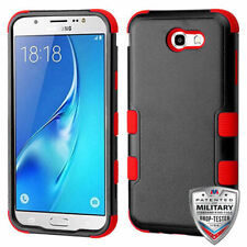 Black Red Tuff Impact Cover + Glass Screen Film FOR SAMSUNG Galaxy Halo / I8520