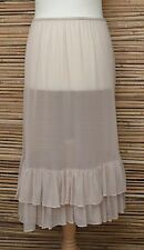 LAGENLOOK AMAZING BOHO MAXI PETTICOAT UNDERSKIRT/DRESS**BEIGE**WAIST UP TO 54""