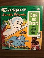 1970 Peter Pan 45 RPM Book and Record- Casper Jungle Friends