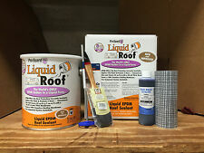 Liquid Roof EPDM RV Roof coating -1 Gallon Kit -for roof leaks, repair, sealing