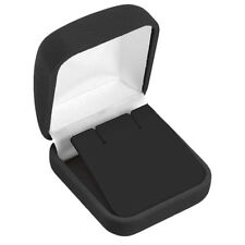 BLACK VELVET EARRING GIFT BOX BLACK EARRING BOX JEWELRY BOX 2 1/4