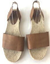 43a8819fbf7 Soludos Women s Size 10 Brown Leather Classic Espadrille Flat Slingback  Sandal