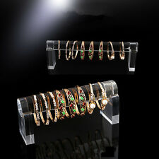 Clear Acrylic bracelets bangle Display stand Jewelry show case Holder Organizer