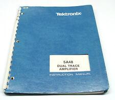 Tektronix 5A48 Instruction Manual f. 5000er Serie Dual Trace Amplifier Plugin