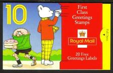 GB Barcode Stamp Booklet KX5 Greetings Childrens Characters 1993 1st issue
