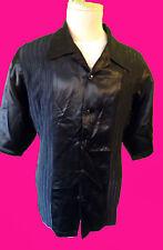 Satin Silver club lounge shirt disco black martini smoking SHINY clubwear gothic