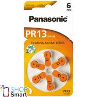 6 PANASONIC PR13 PR48 HEARING AID BATTERIES 1.4V ZINC AIR NO MERCURY NEW