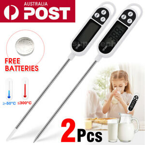2X New Digital COOKING FOOD MEAT KITCHEN THERMOMETER MEAT Stab PROBE TEMPERATURE