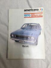 1970 Original American Motors Sales Brochure