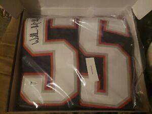 Willie Mcginest Signed Patriots Custom Blue Jersey Size XL Beckett COA 🔥🏈🔥