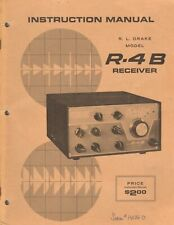 Drake R-4B Receiver Original Instruction Manual w/ Schmatics