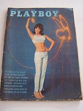 MAGAZINE PLAYBOY US N° 7 DE 1965 .THE GIRLS OFTHE RIVIERA AVEC POSTER . BON ETAT