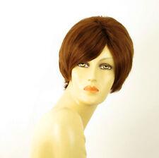 perruque femme 100% cheveux naturel châtain clair cuivré ref LAURA 30