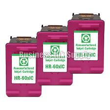3 Color HP 60XL Remanufactured ink cartridge CC644WN HP60XL HP 60 XL HP 60XL