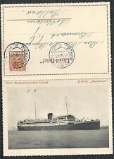 Netherlands 1932 private Lloyd-Brief  D.M.S. Baloeran sent to Rotterdam