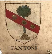 FAMIGLIA FANTONI E FATIJ STEMMA NOBILIARE 600esco