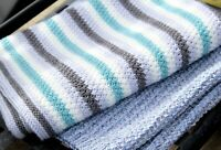 KNITTING PATTERN Baby Striped Blanket, DK Baby Blanket, Heartwood Pattern.