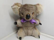 Vtg Rare Genuine Kangaroo Fur Blue Gum Baby Koala 14� Bear Australia Qantas